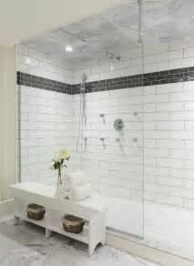White Shower Black And White Shower Contemporary Bathroom Muskoka