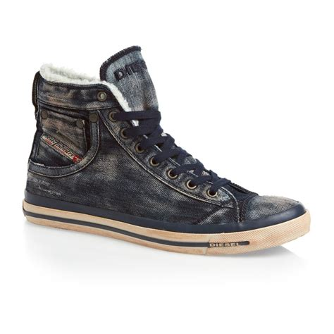 diesel shoes diesel magnete exposure i shoes indigo free uk delivery