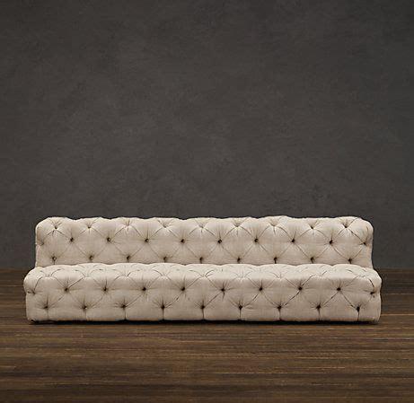 restoration hardware tufted linen sofa 17 best images about sofa l ve on vintage sofa