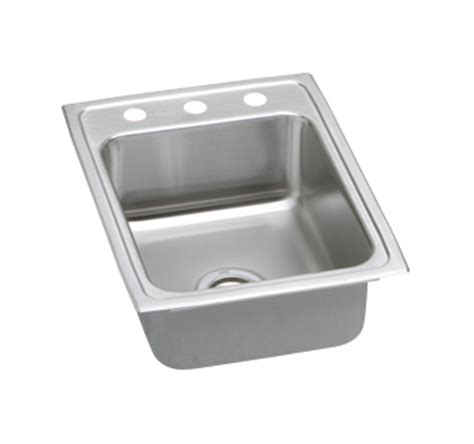 top mount kitchen sink no holes elkay psr1722 gourmet pacemaker stainless steel single