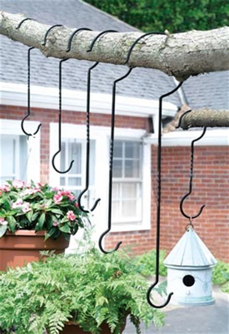 Outside Plant Hangers - outdoor plant hanger hooks set of 6 from collections etc