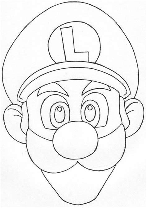 mario head coloring page luigi coloring coloring home