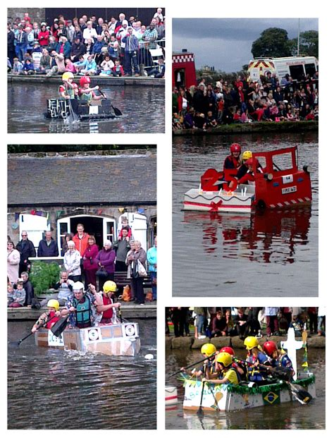cardboard boat race linlithgow boat racing owling about