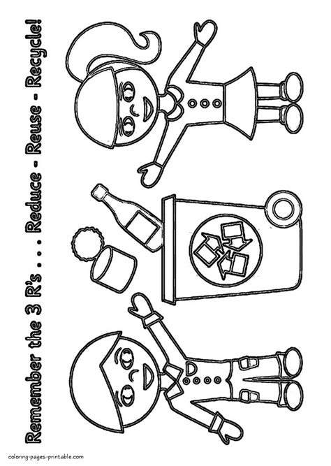 recycling colouring pages kids coloring europe travel
