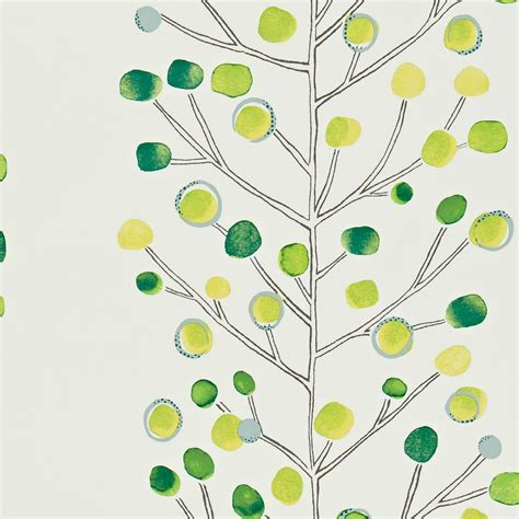 emerald green wallpaper uk berry tree wallpaper emerald lime chalk 110206 scion