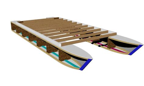 catamaran pontoon design pontoon boat plans easy to build from common lumber get