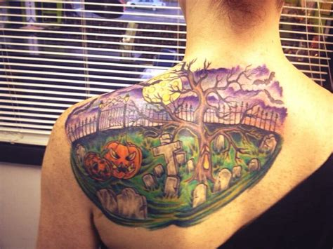 tattoo expo wilmington nc halloween themed graveyard tattoo completed by matt