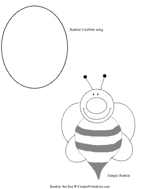 bee template printable www imgkid com the image kid