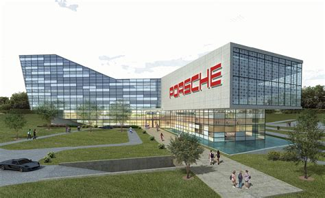 porsche headquarters porsche us headquarters concept drawing eurocar
