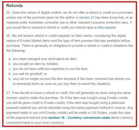 themeforest refund request refund policy for saas apps termsfeed