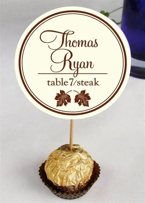 how to make wedding reception place cards wedding reception ferrero rocher cards place cards guests name cards placecards