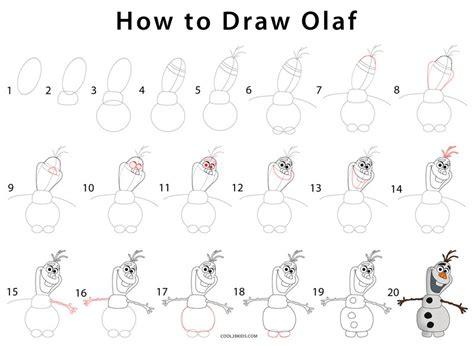 doodle drawing step by step how to draw olaf step by step pictures cool2bkids