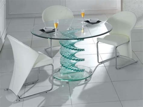 glass table dining set unique glass dining table