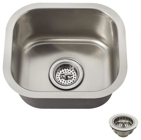 Small Stainless Steel Sink Schon Scsbsb18 Premium Small 18 Single Bowl
