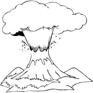 cinder volcano coloring page volcano coloring pages with printable lables coloring pages