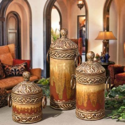 Tuscan Kitchen Canister Sets by Tuscan Canister Set Home Decor Style I