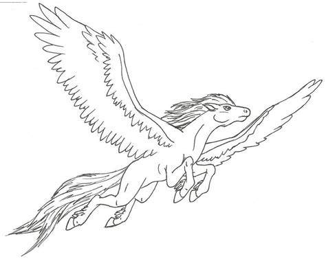 winged horse coloring page drawings of pegasus coloring home