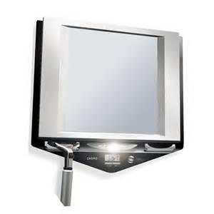 fogless bathroom mirror z fogless led lighted fogless shower mirror with lcd clock