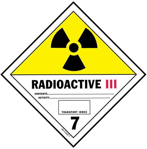 d o t radioactive iii label for hazardous materials class 7