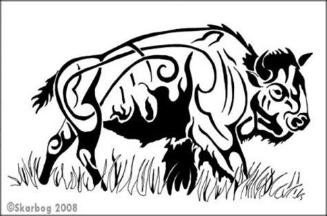 tribal buffalo tattoos tribal bison