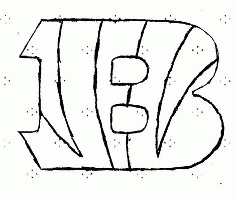 printable cincinnati bengals coloring pages az coloring