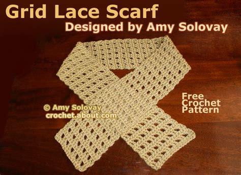 use pattern en español easy grid lace crochet scarf pattern