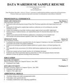Sample Of Warehouse Resume Data Warehouse Manager Resume For Free Resumecompanion