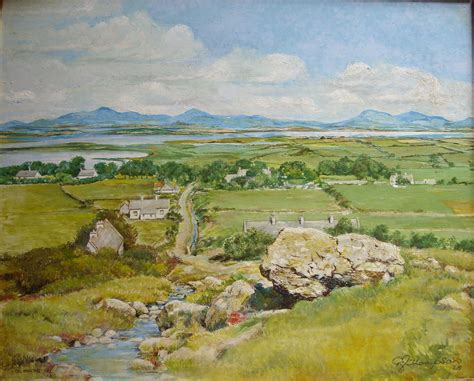Landscape Paintings Northern Ireland Of A Green Land Ronsartblog