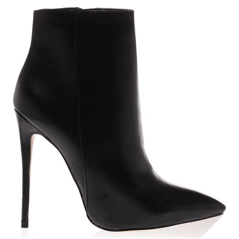 new pointed toe womens zip up stiletto heel ankle