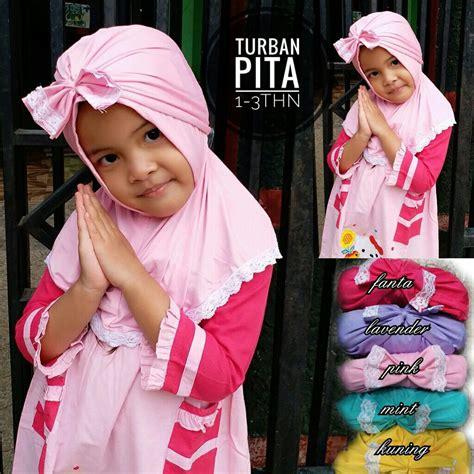 Turban Bayi Anak Model Pita Warna kerudung turban pita sentral grosir jilbab kerudung i