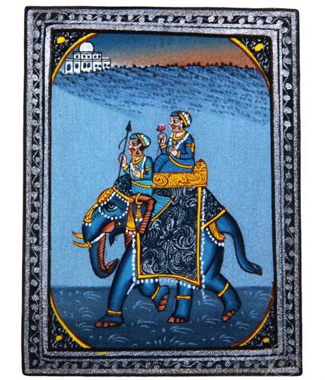 Handmade Miniatures - 7craft handmade indian miniature painting rajasthani