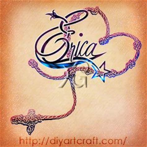 tattoo name erica erica star tattoo what s your name pinterest star