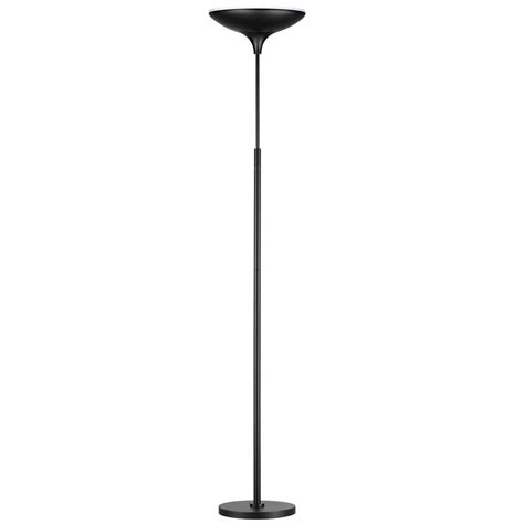 globe electric 71 in black satin led floor l torchiere