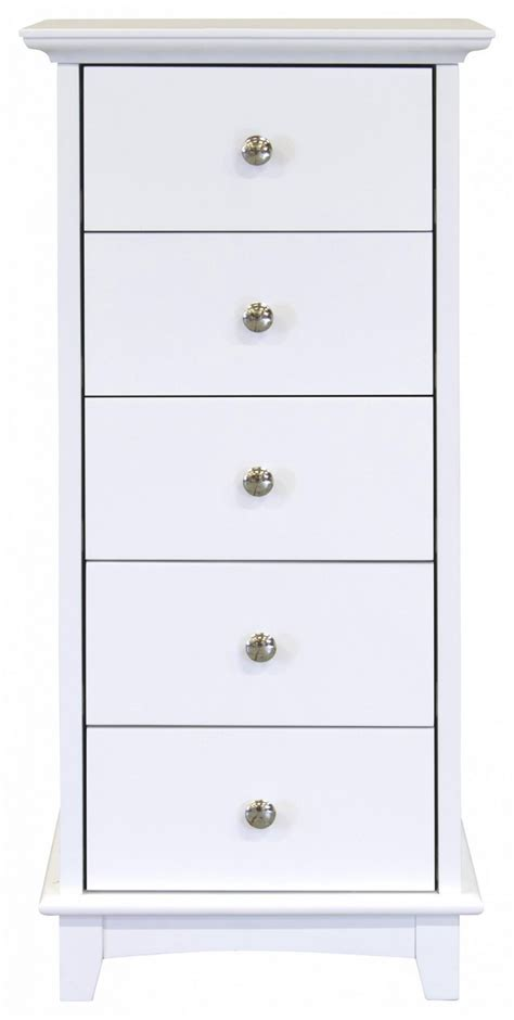 Narrow 5 Drawer Chest by Gfw Toulouse White 5 Drawer Narrow Chest By Gfw
