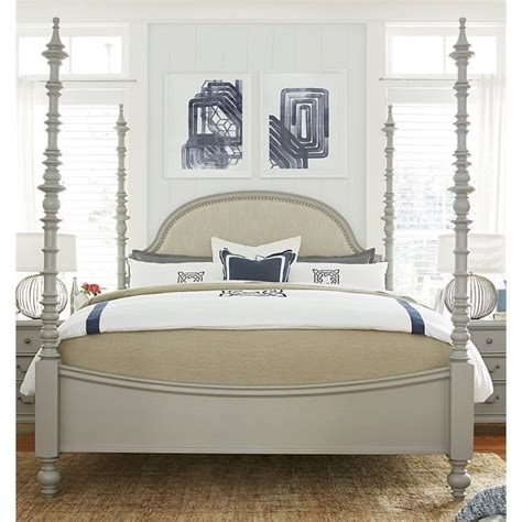 paula deen bed paula deen home dogwood king poster bed in cobblestone