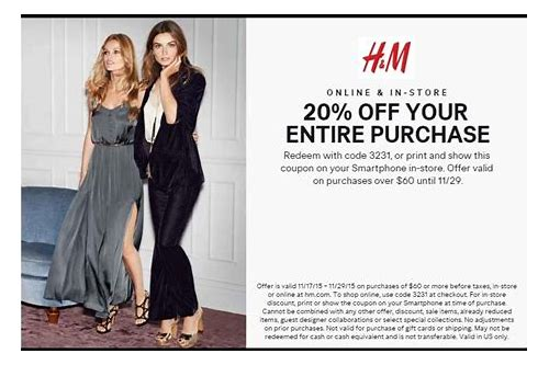 h&m online coupons november 2018