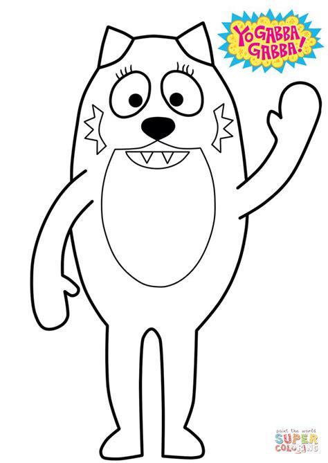 yo gabba gabba coloring pages games yo gabba gabba toodee coloring page free printable