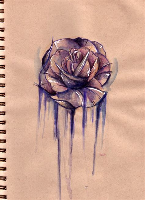 ross tattoos sketch roses and ross on