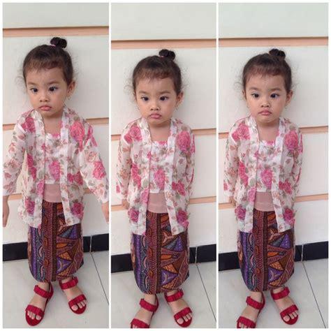 Pineapple Rok Baby Baju Muslim Anak lil javanese wearing kebaya kutubaru kiddos kebaya javanese and wear