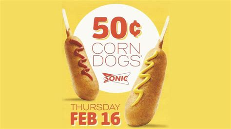 sonic 50 cent corn dogs sonic drive in 50 cent corn dogs archives chew boom