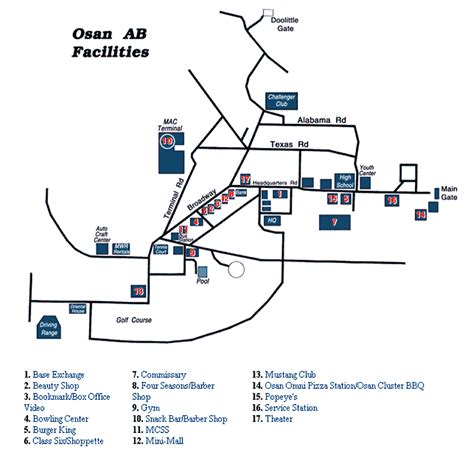 map of air bases in osan air base