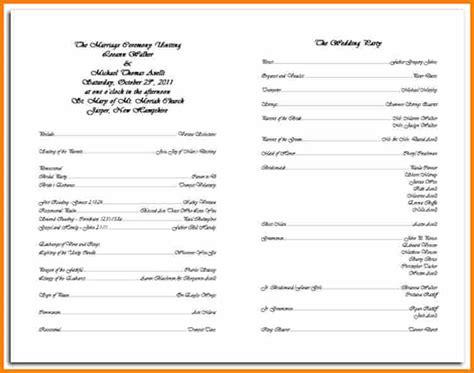 7  catholic wedding program   resume reference