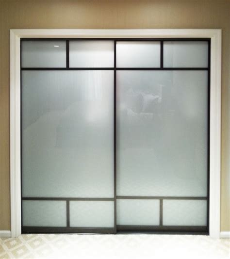 Frosted Glass Creative Mirror Shower Frosted Glass Sliding Closet Door