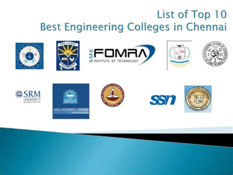 Mba In Information Technology Colleges In Chennai by Top 10 Engineering Colleges In Chennai