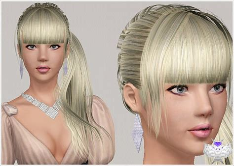 side ponytail sims 3 the sims 3 side ponytail with bangs hairstyle 005 by david