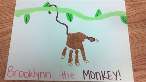new year monkey handprint handprint monkey crafts for