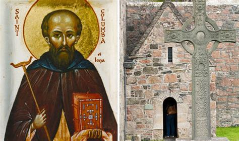 st columbas grave desecrated  iona uk news