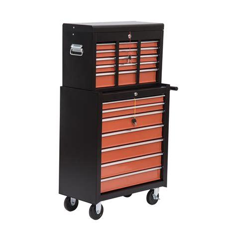 Homcom Heavy Duty Rolling Tool Chest Cabinet W 16 Drawers Heavy Duty Tool Cabinet