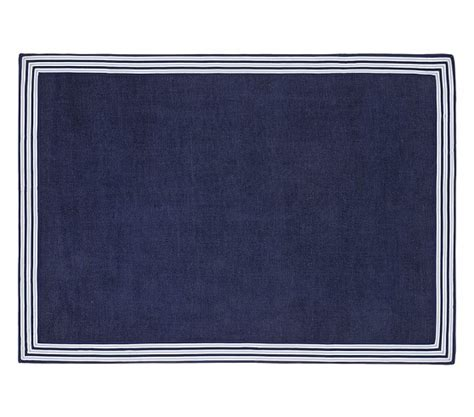 navy blue rugs for nursery chenille border rug pottery barn