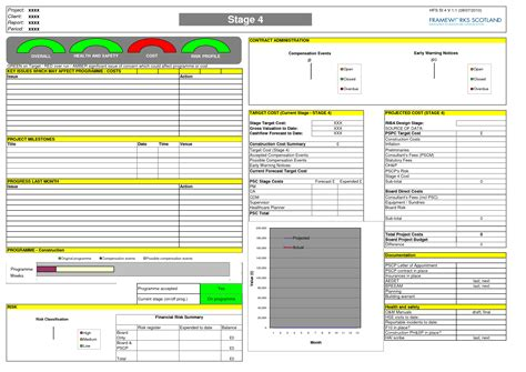 construction cost report template construction monthly report template designed by riv11333